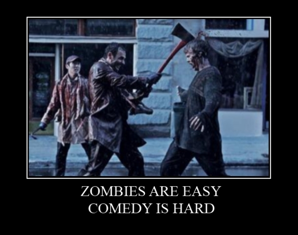 Walking Dead Demotivational Poster Zombies Comedy