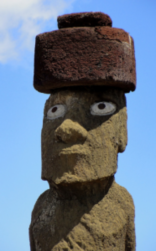 That awkward moment when you're Googling for picture of Moai statues so you can put googly eyes on them, and find they were 500 years ahead of you. (This one is real.)