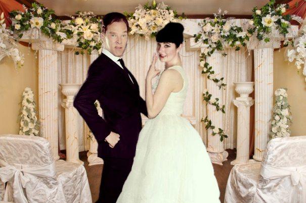 Benedict Cumberbatch and Bonnie Burton